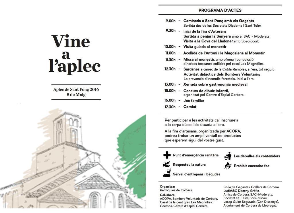 Díptic Aplec Sant Ponç